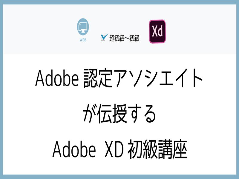 Adobe認定アソシエイトが伝授するAdobe XD初級講座の画像