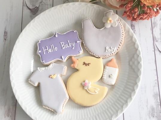 出産祝いにも!ALA アイシングクッキーアートコース レッスン3の画像