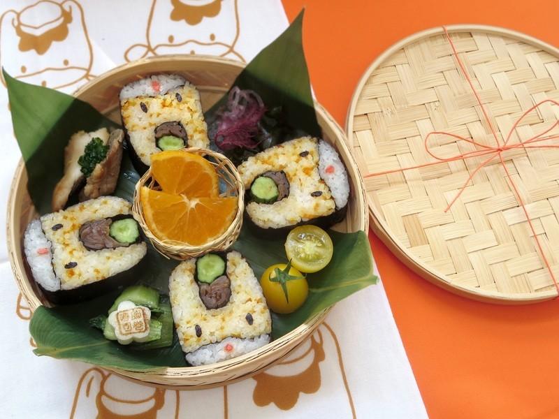 「ぐんまちゃん柄」サクッと1時間で巻き寿司1柄の画像