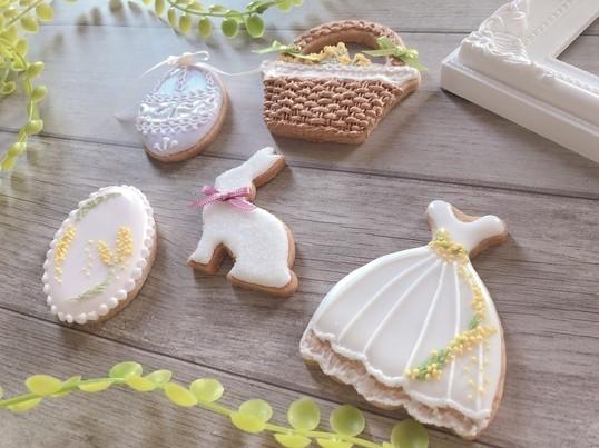 【3、4月限定講座】春のミモザとイースターのお祝いクッキーの画像