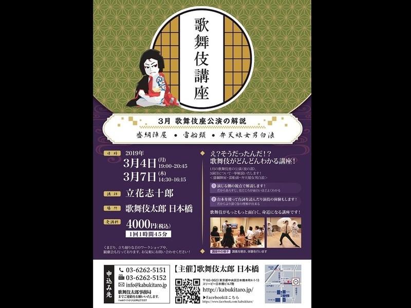 三月歌舞伎座公演の解説の画像