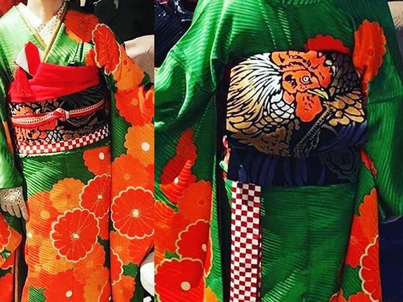 お気に入りの布で作る簡単春の帯作りワークショップの画像