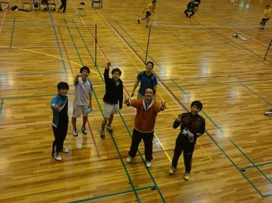 体育館でバドミントン!パターン練習や練習試合を!の画像
