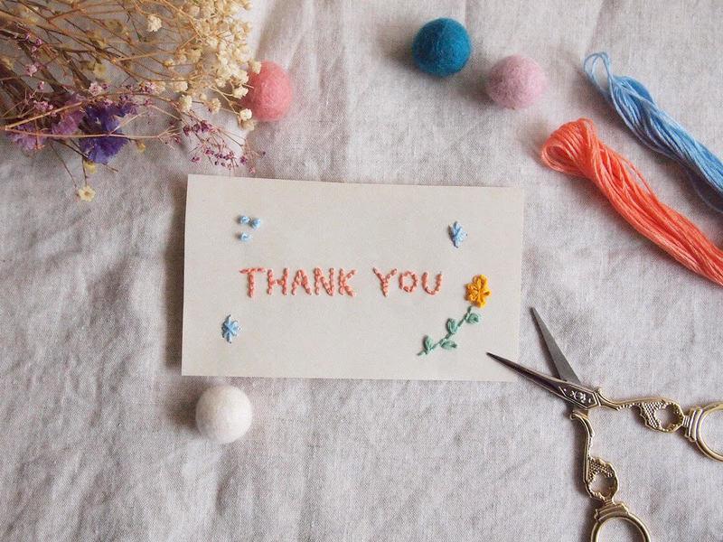 【こととば那珂川】初心者も簡単!紙刺繍でメッセージカードを作ろう♫の画像