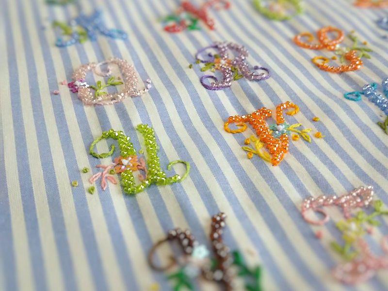 はじめてのリュネヴィル 刺繍体験レッスン〜『基本のき』の画像