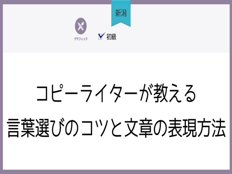 【新潟】コピーライターが教える、言葉選びのコツと文章の表現方法講座の画像