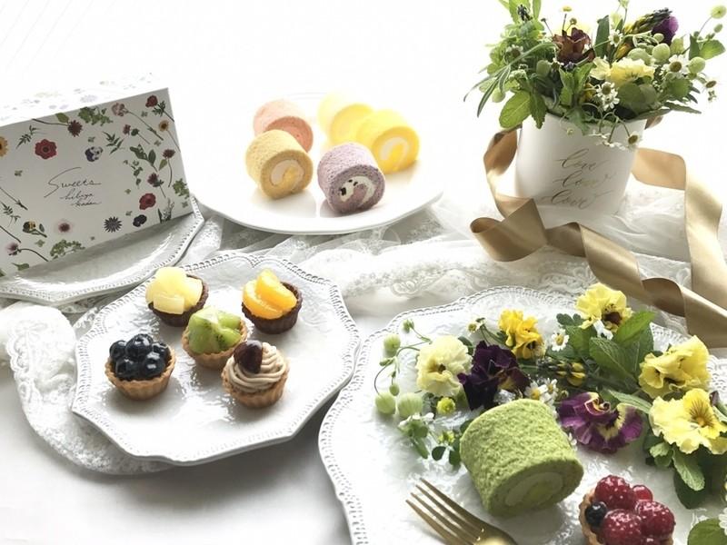 日比谷花壇スイーツ&エディブルフラワーのテーブルフラワーレッスンの画像