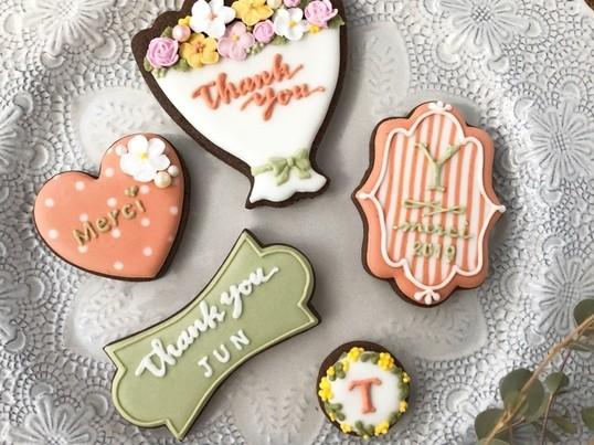 3月のアイシングクッキーデコレーションレッスン「サンクスクッキー」の画像