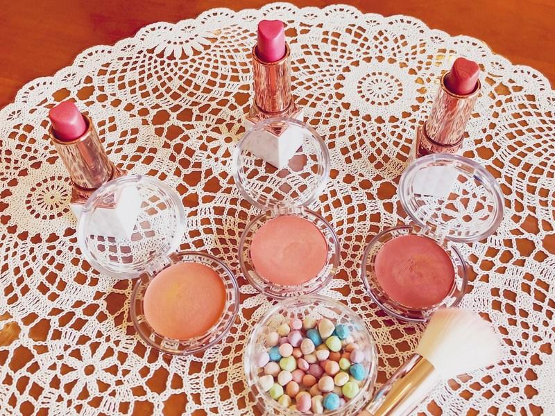 春色ルージュ♡香るチーク♡キラキラUVパウダーボールをつくるの画像