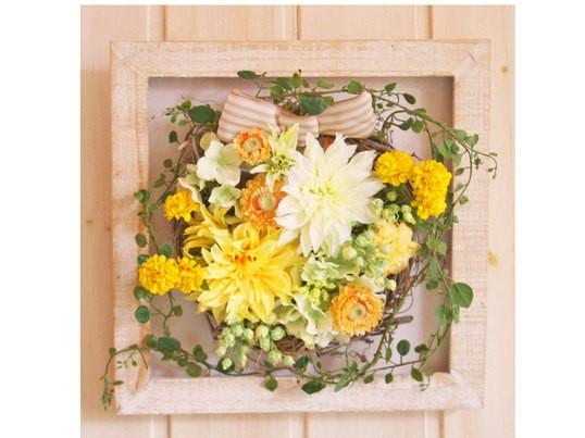 大人気!文京区素敵アトリエ/好きなお花が選べるフレームアレンジの画像
