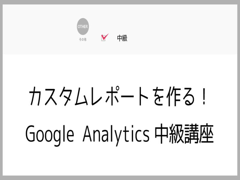 カスタムレポートを作る!Google Analytics中級講座の画像