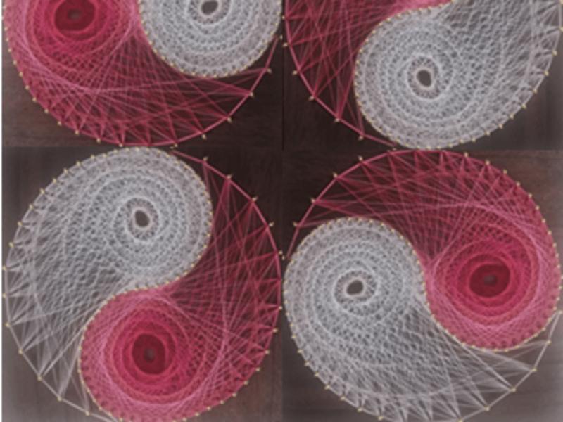 【「陰陽図糸かけ曼荼羅アート」ワークショップ】の画像