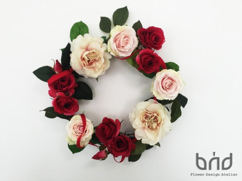 【BUD母の日レッスン】ローズガーデンリースの画像