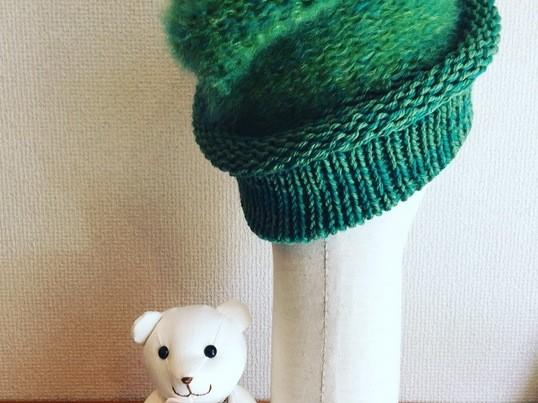 30分で完成♡ドイツ製の編み機を使って素敵なニット帽を作ります。の画像