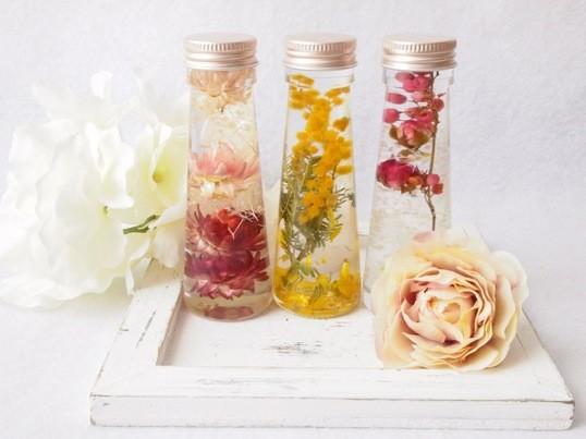 【特別講座】お部屋の癒し。お花のハーバリウム3点セットの画像