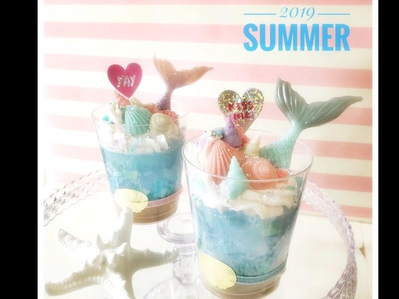 夏にぴったり!マーメイドパフェの画像