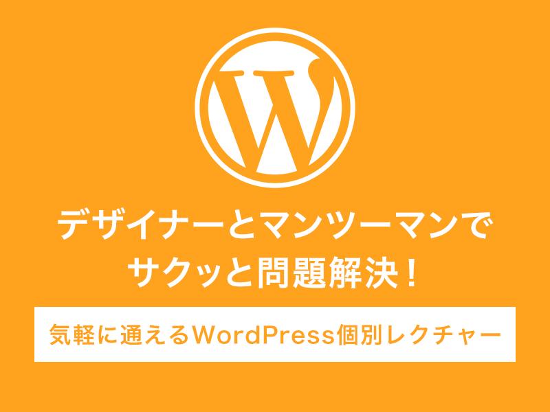 【マンツーマンで質問し放題】WordPress個別レクチャーの画像