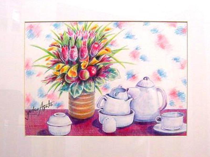 町家で色鉛筆画(静物画)体験1回コース講座の画像
