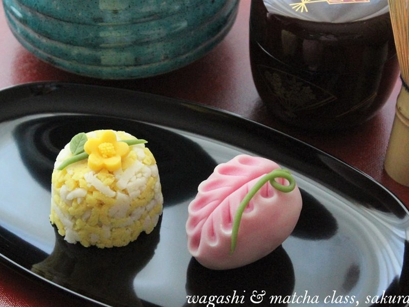 【5月限定】かわいい和菓子「山吹」と「藤の花」を作ってみよう!の画像
