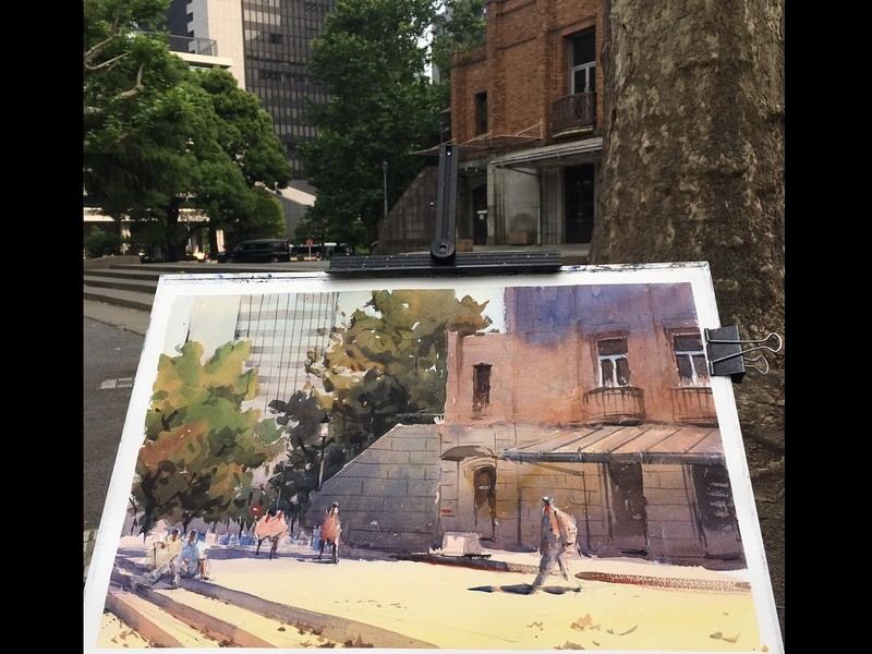 受付中 風景水彩画ワークショップin日比谷公園の画像