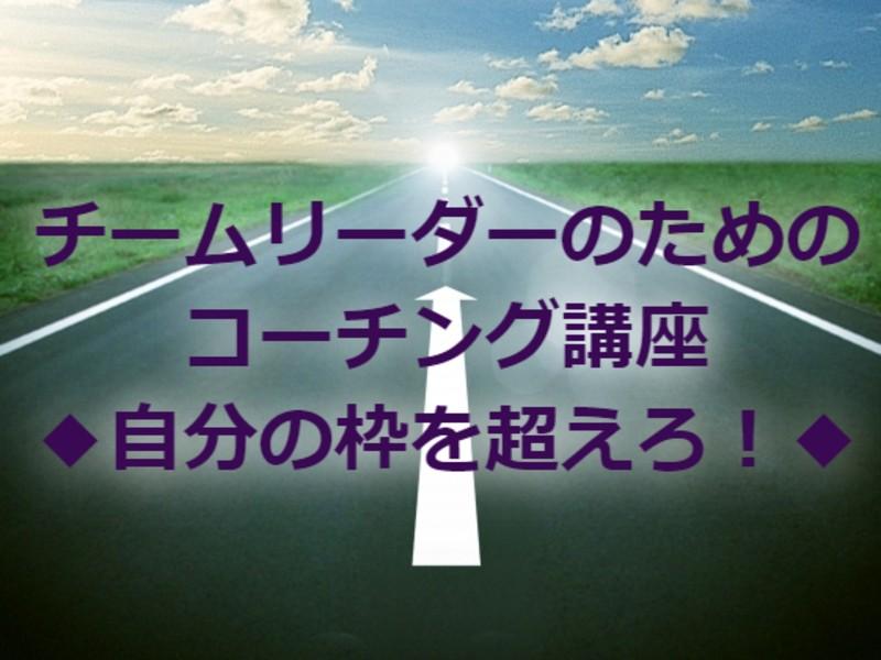 チームリーダーのためのコーチング講座◆自分の枠を超えろ!◆の画像