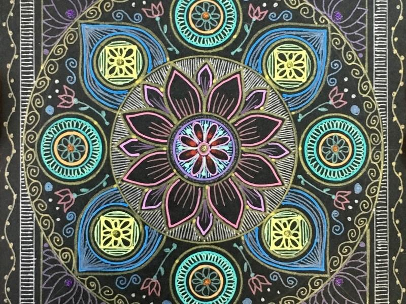 思い通りに自分らしく描く 楽描き曼荼羅アートステップアップ講座の画像