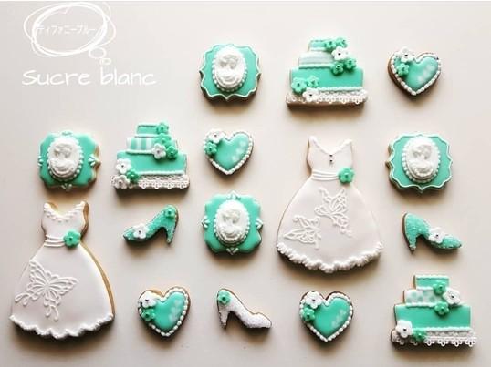 【ティファニーブルー】のアイシングクッキーの画像