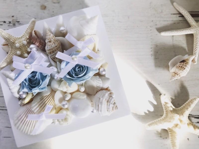 貝殻リングピローの画像