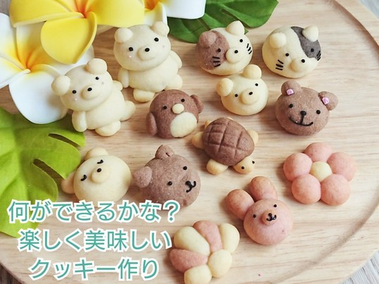 親子で夏の思い出!想像力&食育☆かわいい動物クッキーを作ろう♪の画像
