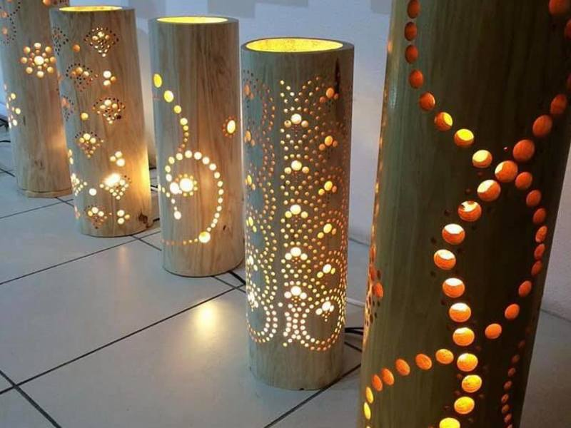 竹用ドリルで竹ライトを作ろう(親子参加可能)の画像