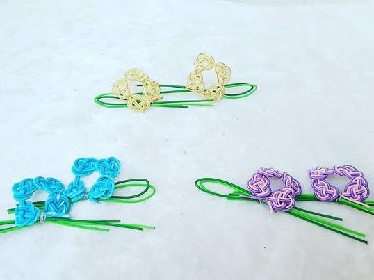 水引講座@紫陽花の花のアクセサリー作りの画像