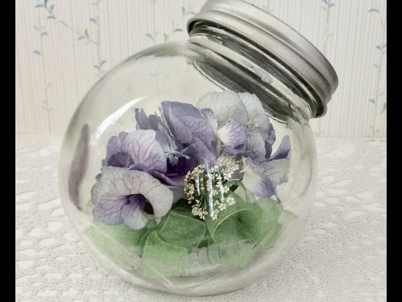 あとりえ優糸花 アジサイのキャンディボトルワークショップの画像
