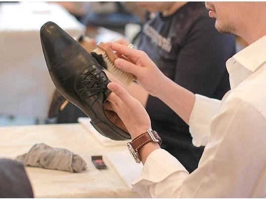 靴磨きワークショップの画像