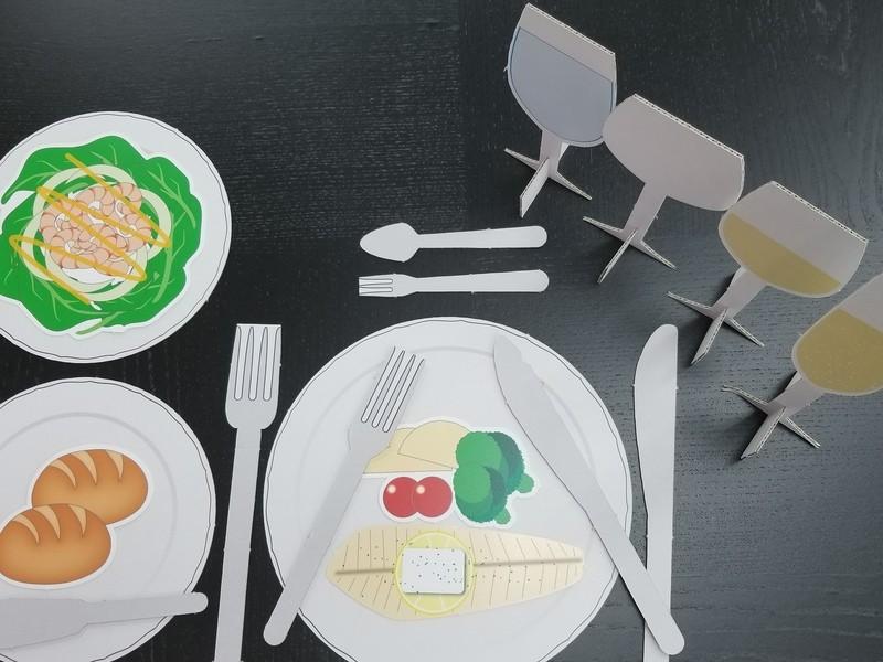 「パズルで覚えるテーブルマナー教室」の画像