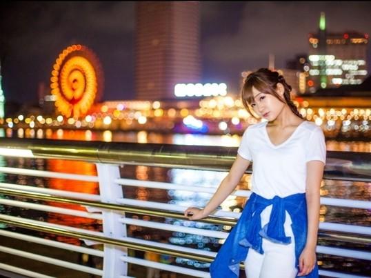 夜景ポートレートにチャレンジ!@大阪の画像