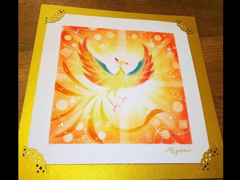 パステルアートワークショップ ~光の鳳凰~ in 福岡の画像