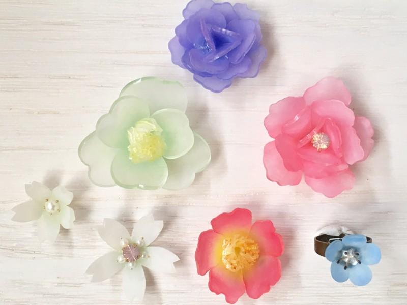 初心者歓迎!初めての立体プラバンでお花のアクセサリー作り☆の画像