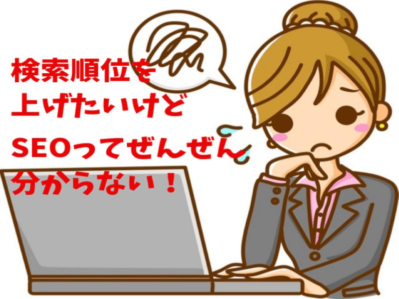 【女性限定】自分のホームページ・ブログの検索順位を上げるSEO対策の画像