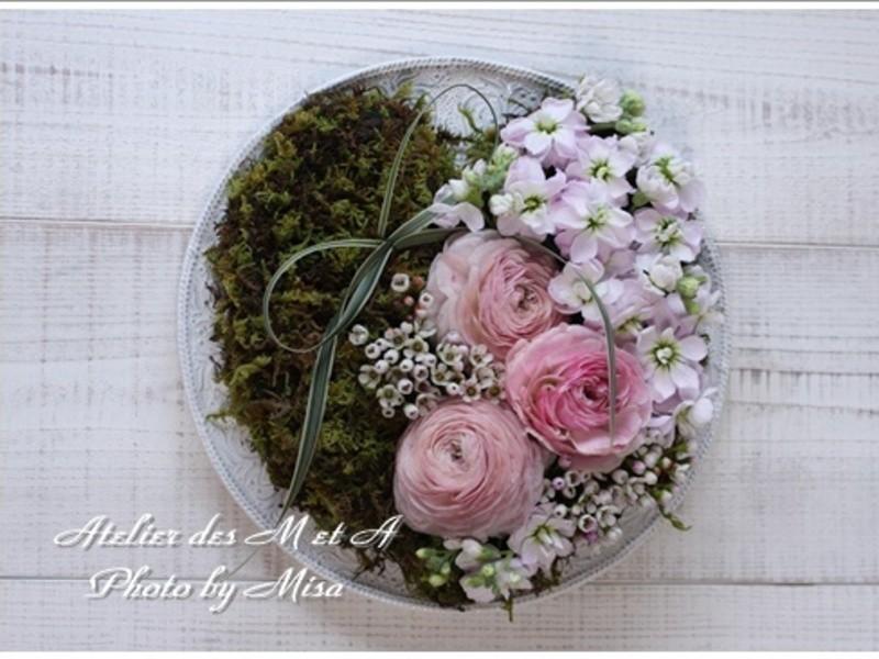 呉市☆暮らしにお花を~フランスの花☆アレンジメント体験レッスン~の画像