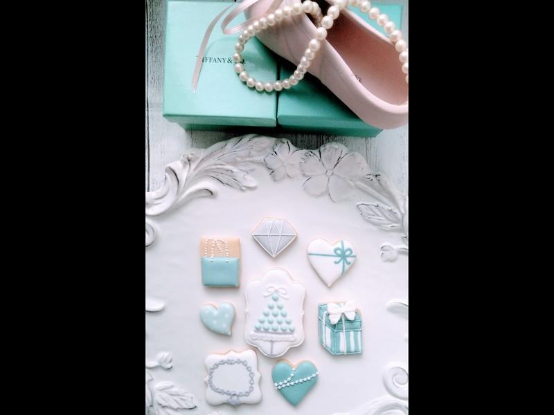 Tiffany blueのアイシングクッキーを作りましょう。の画像