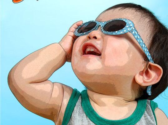 子供の暑中見舞いポストカードを作ろう!☆ミニ写真講座付きの画像