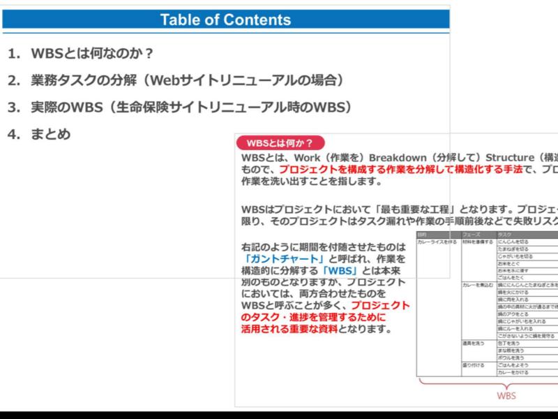 サイトリニューアルプロジェクトのタスク構造とWBSを理解するの画像