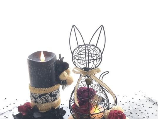 9/21土曜日のお花の教室~ハロウィンアレンジメントの画像