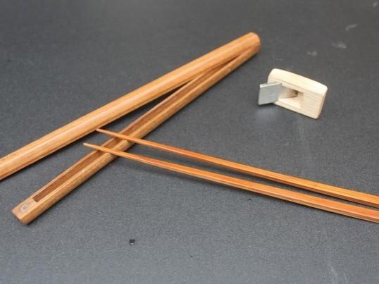 極細の煤竹の箸・チーク材のケース作りませんか!!の画像