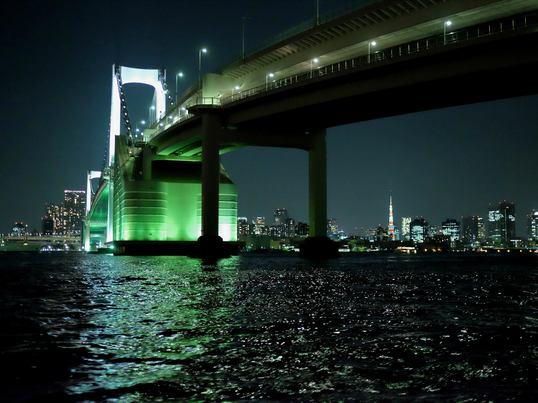 「水面から撮る夜景フォトレッスン」レインボーブリッジナイトクルーズの画像