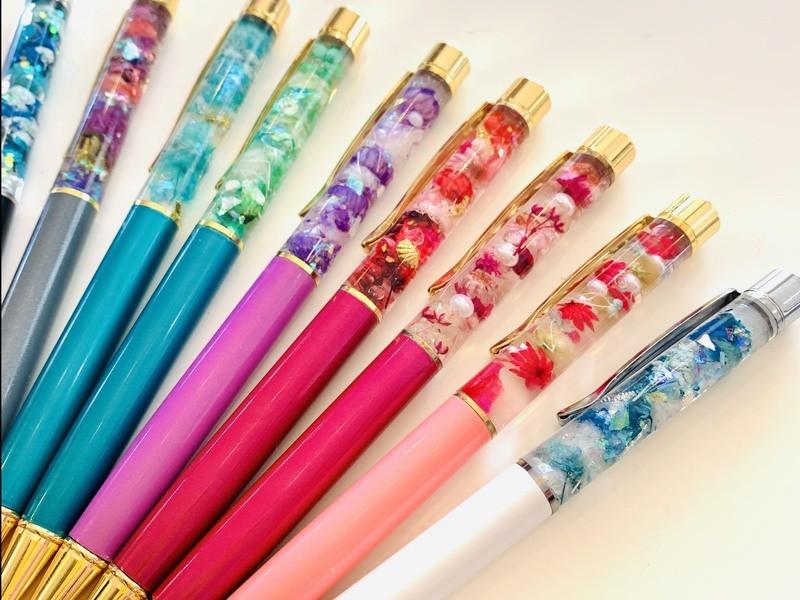 見るだけで癒される♡ハーバリウムボールペン&ネックレス作り♪の画像