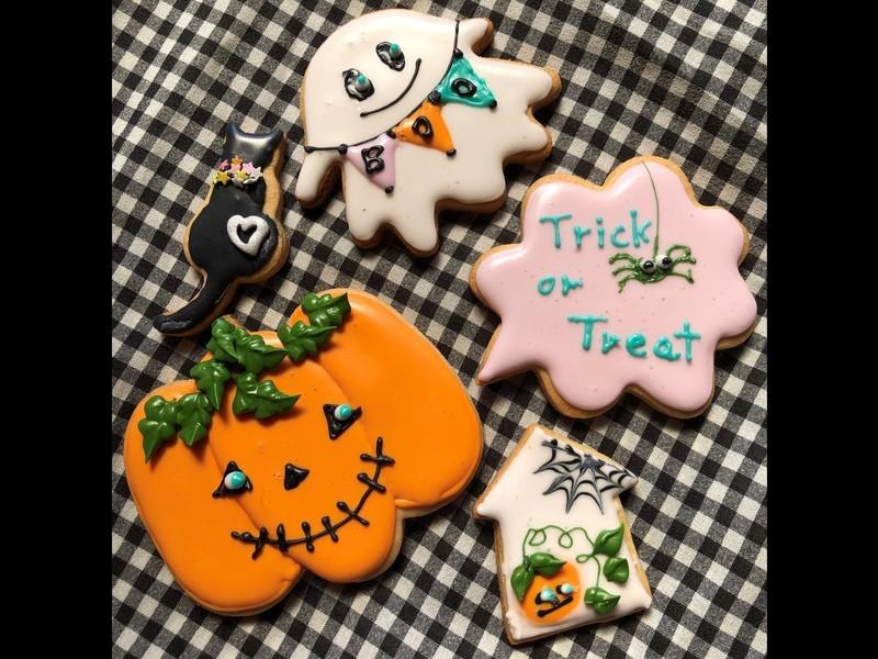 ハロウィン アイシングクッキーの画像