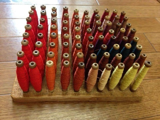 手織博多織アクセサリー講座・シンプルピアスイヤリングの画像