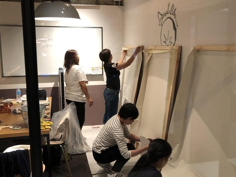 『DIY講座』 壁紙ペタペタ 【貼りまくる講座】の画像