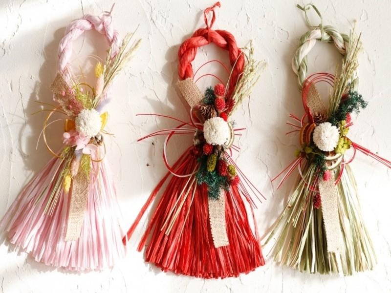 【しめ縄飾り】造花を使わないおしゃれなしめ縄飾りを手作りしましょうの画像